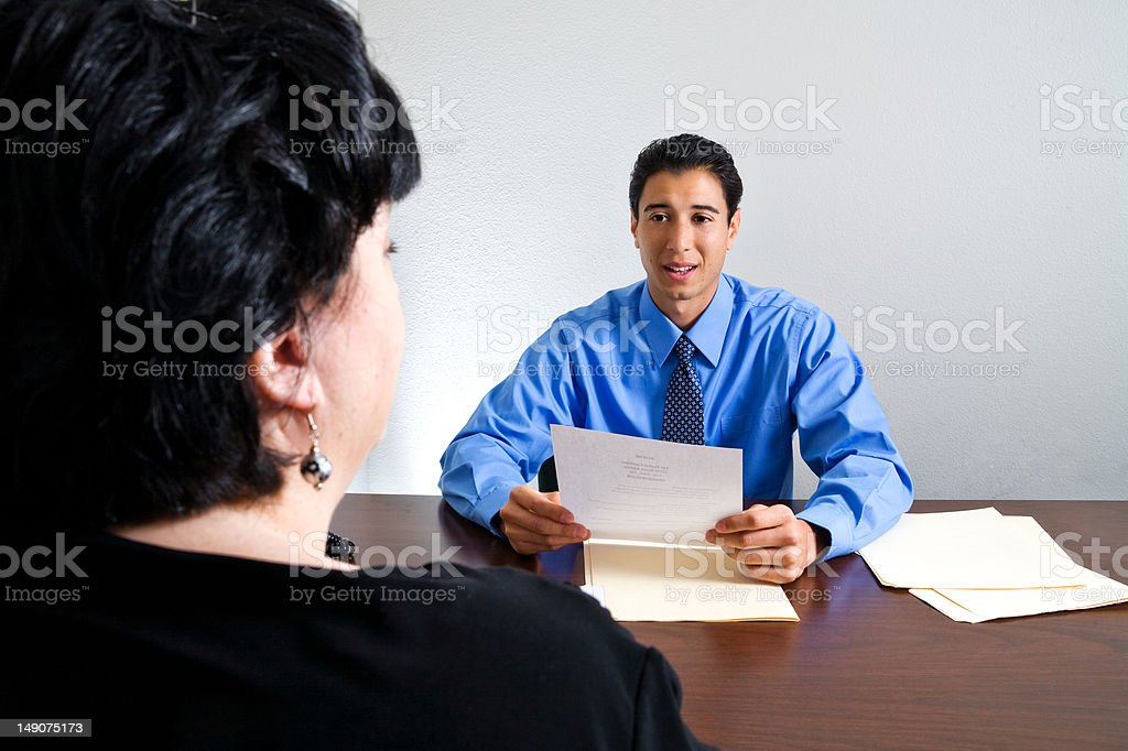 Job Interview Meeting royalty-free stock photo