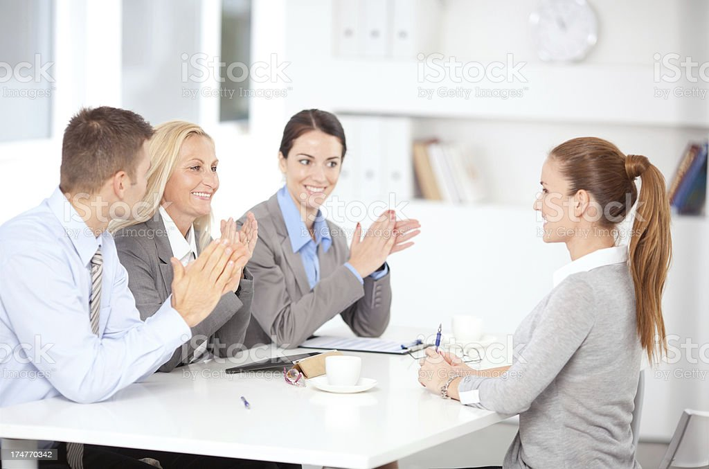 Job interview. royalty-free stock photo