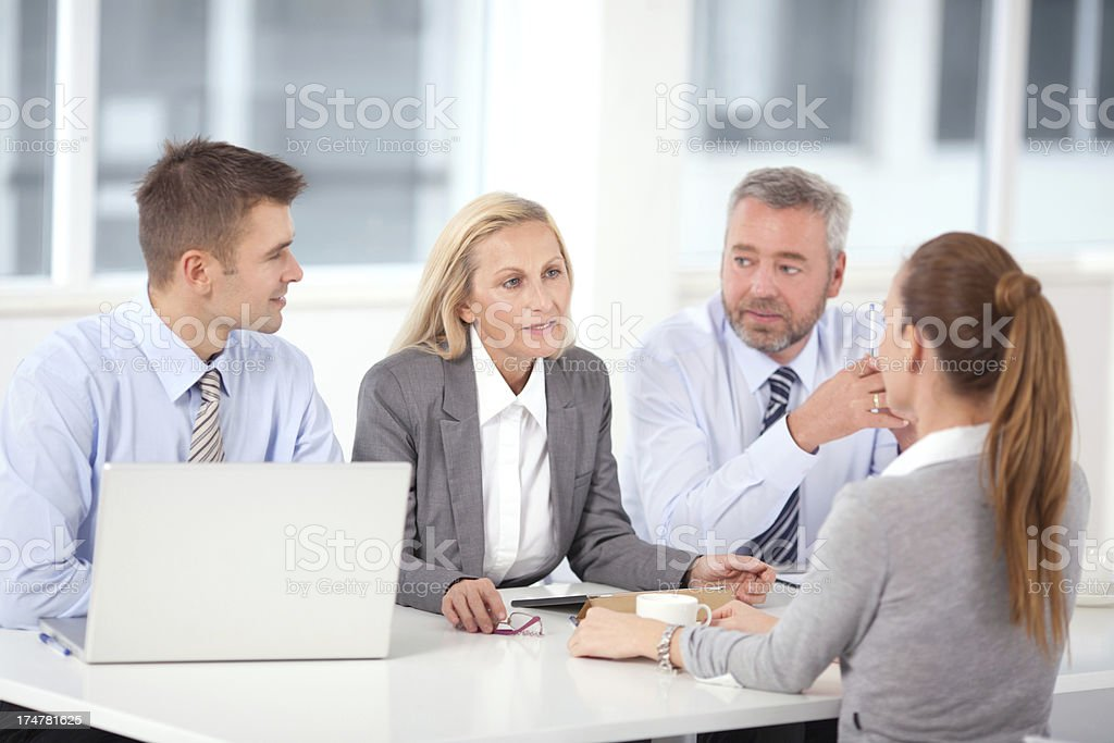 Job interview. royalty-free stock photo