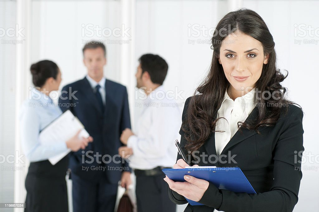 Job interview recruitment royalty-free stock photo