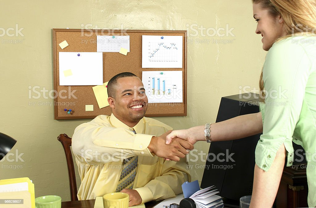 Job Interview Shaking Hands royalty-free stock photo