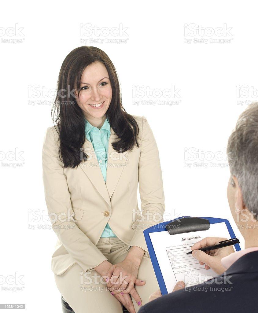 Job Interview Success royalty-free stock photo