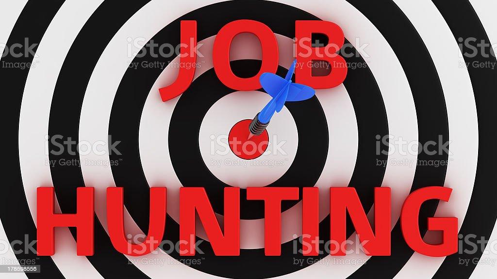 Job is aim royalty-free stock photo