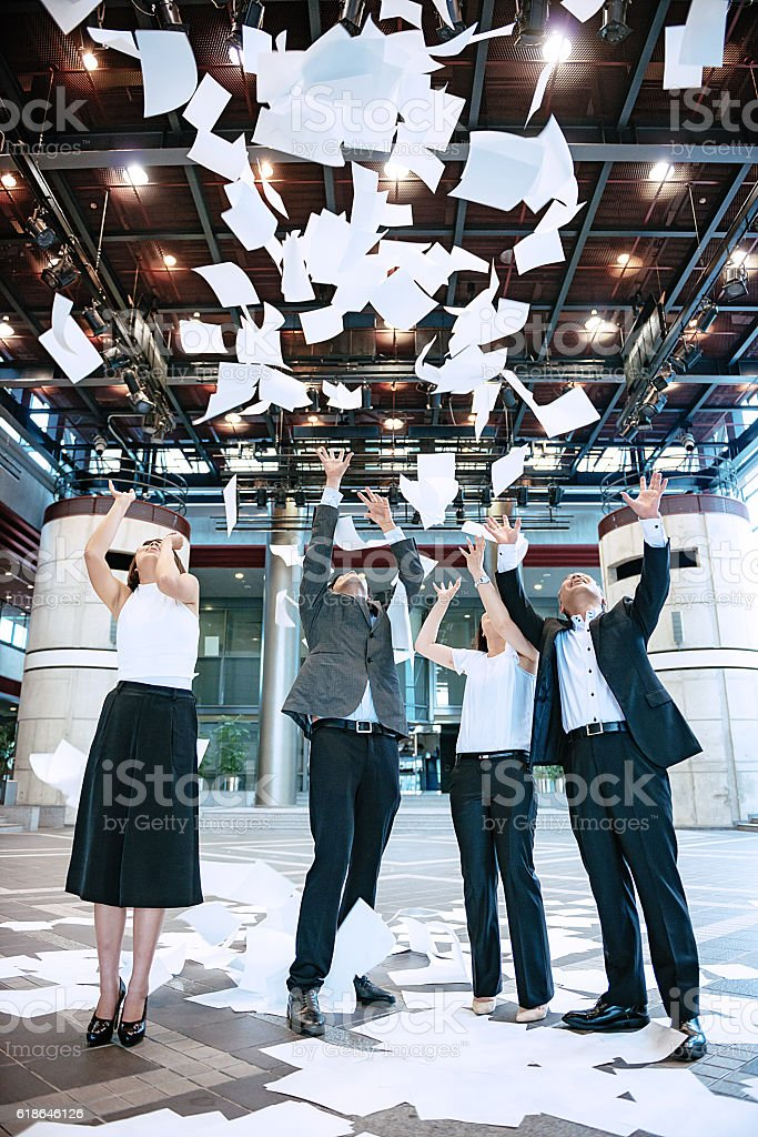 Job is finally finished stock photo