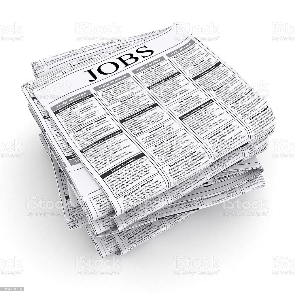 Job Listings royalty-free stock photo