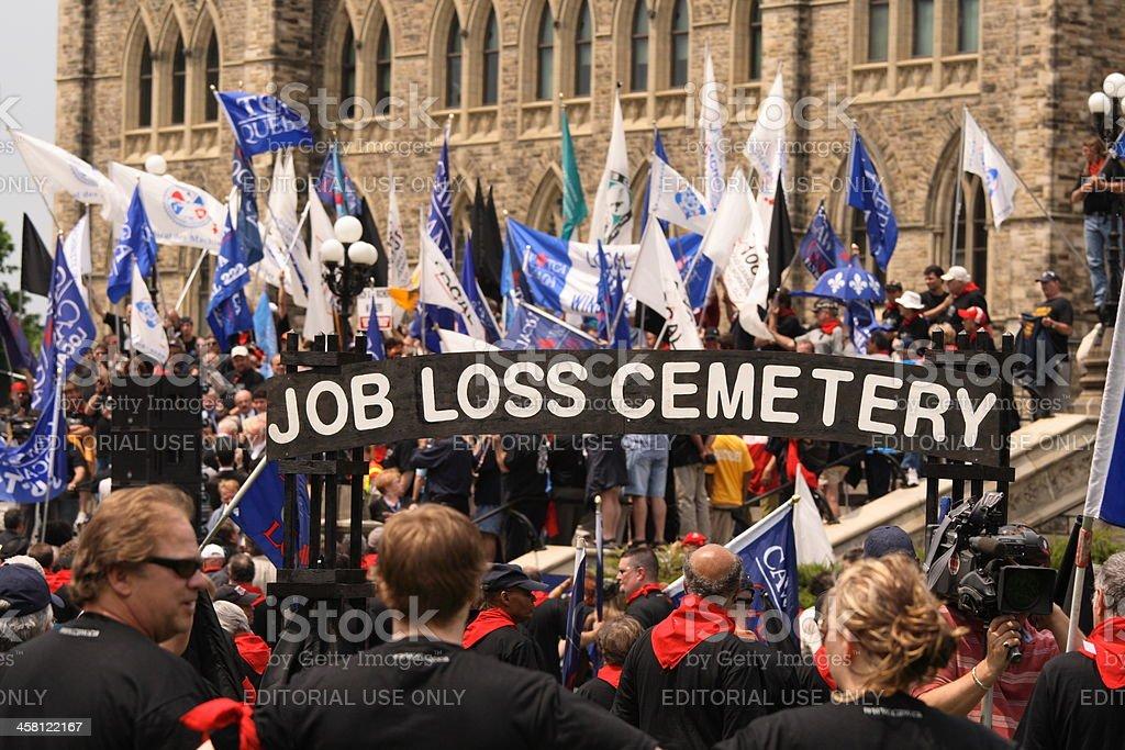 Job Loss Cemetery royalty-free stock photo