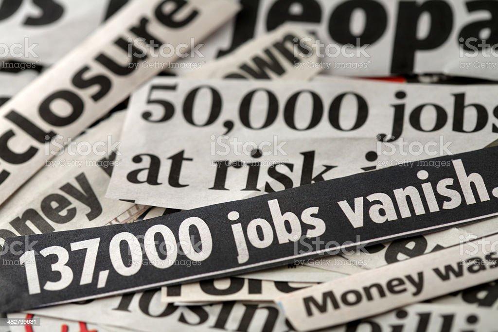 Job loss stock photo