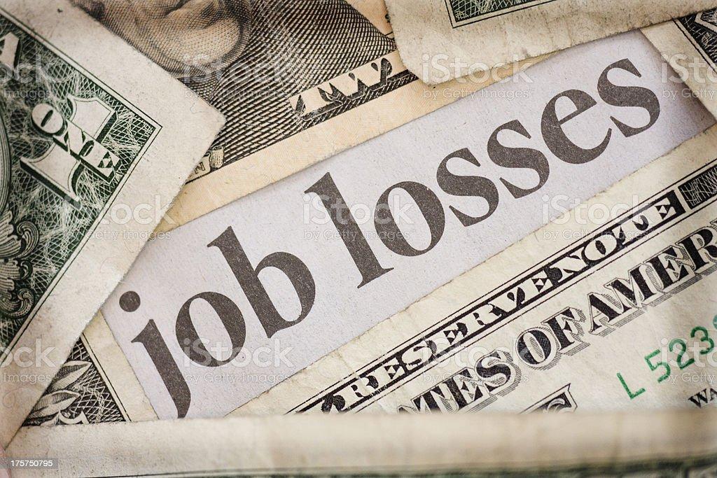 job losses stock photo