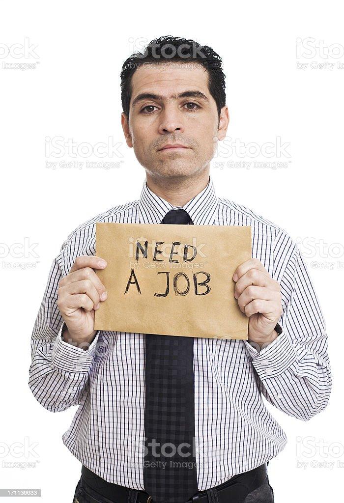 Job Needed royalty-free stock photo