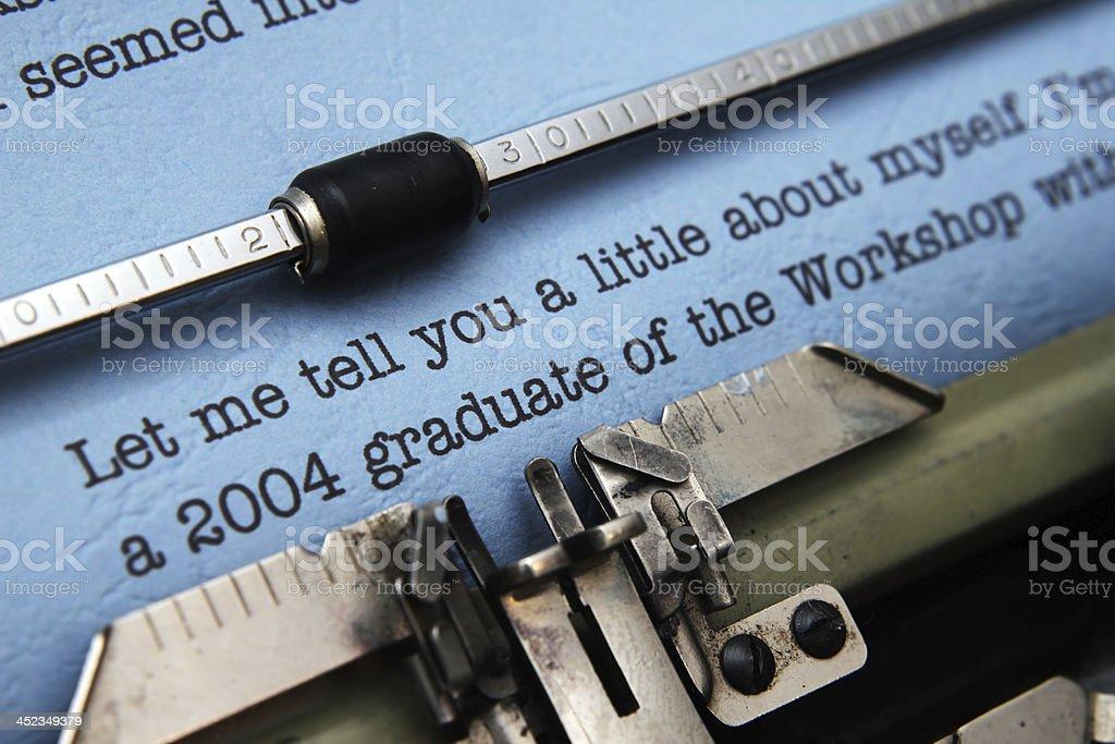 Job offer letter stock photo