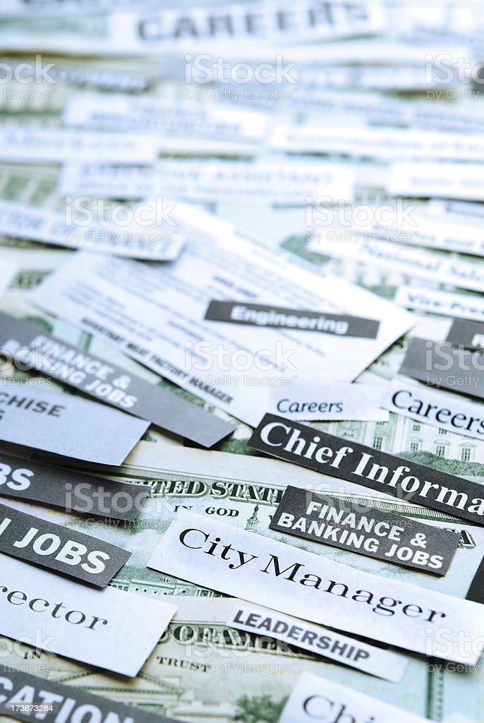 Job postings (hiring, careers) - III royalty-free stock photo