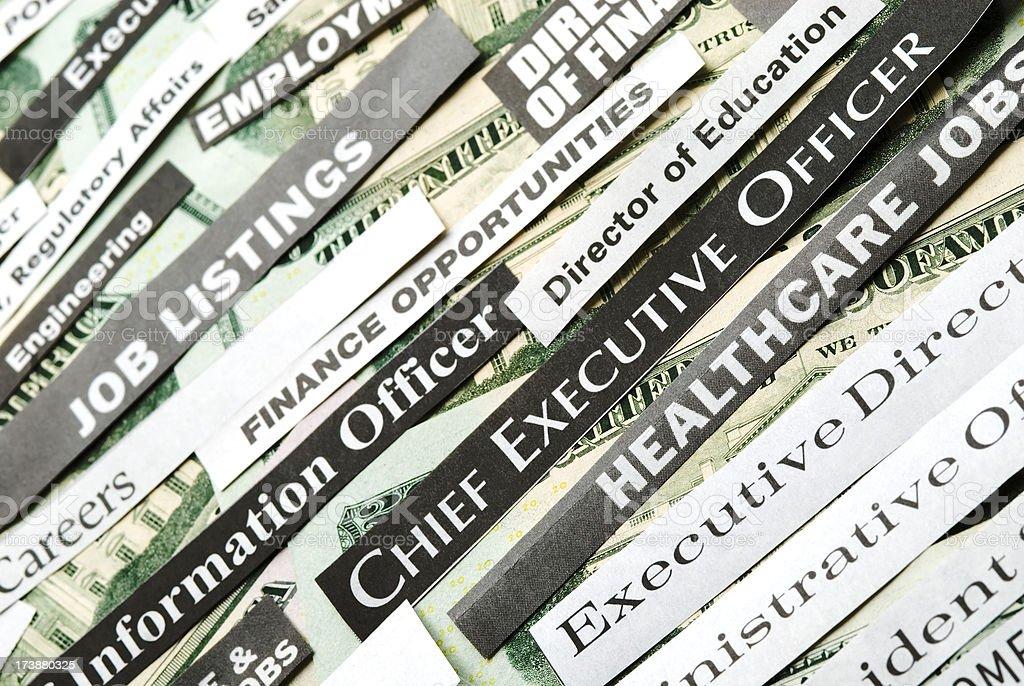 Job postings (hiring, careers) - V royalty-free stock photo