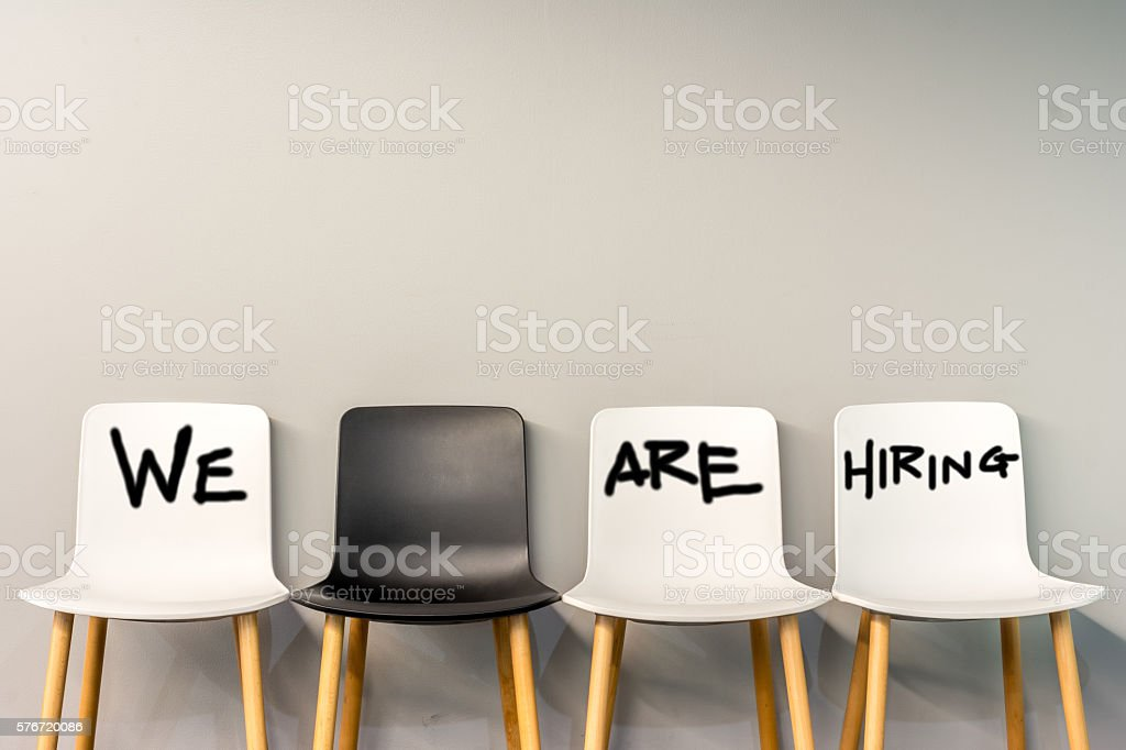 Job Recruiting stock photo