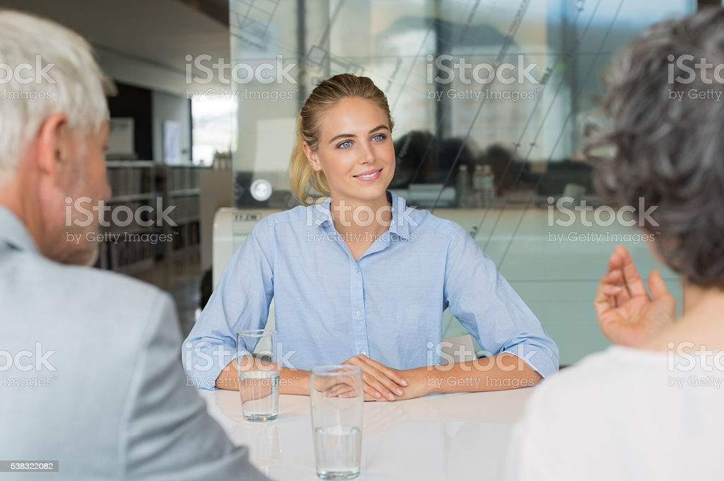 Job recruitment interview stock photo