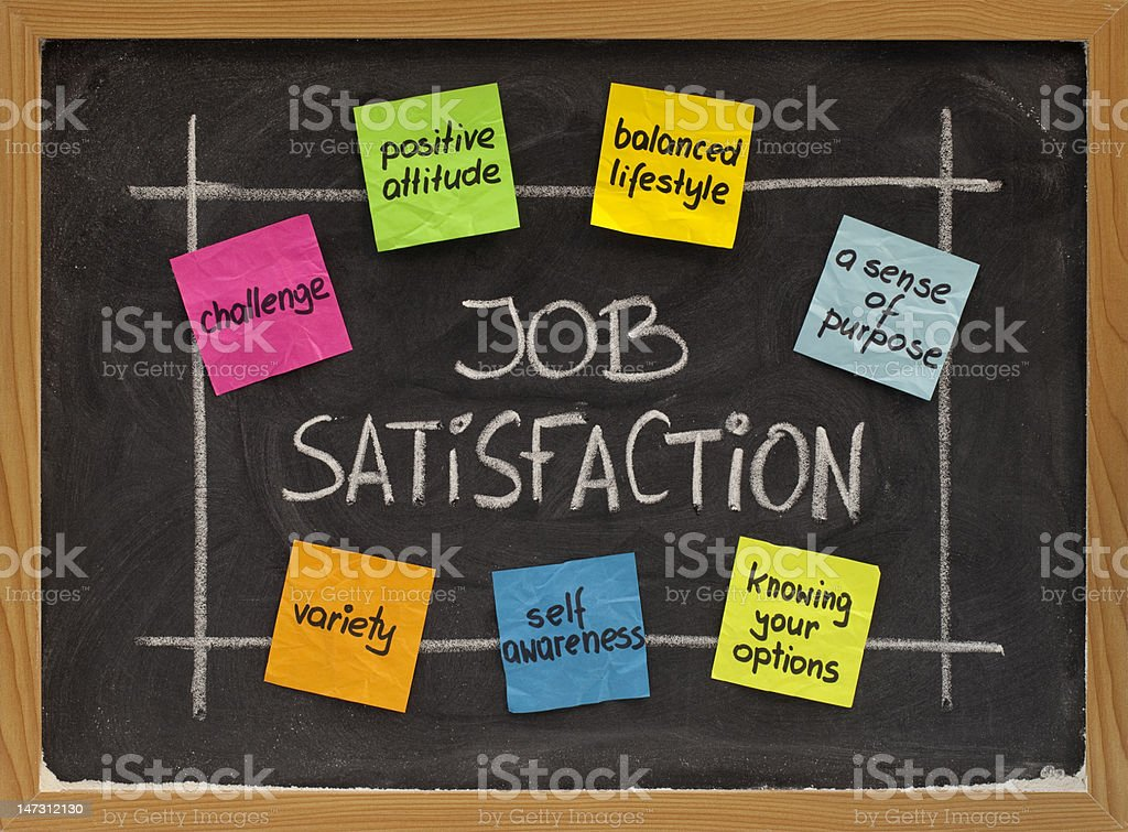 job satisfaction concept stock photo