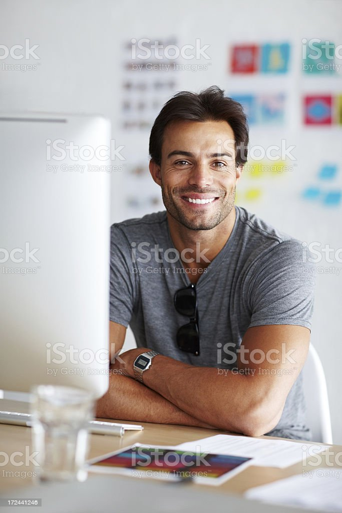 Job satisfaction stock photo
