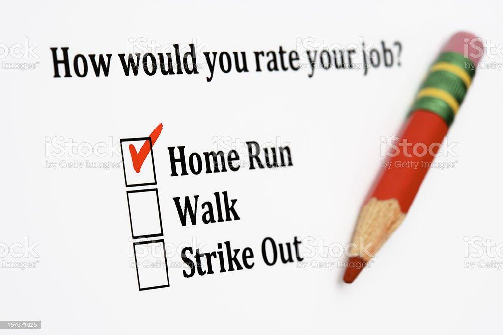Job satisfaction survey royalty-free stock photo