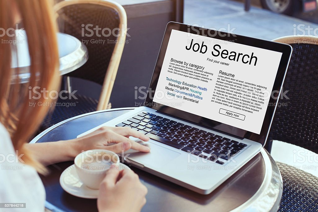 job search concept stock photo