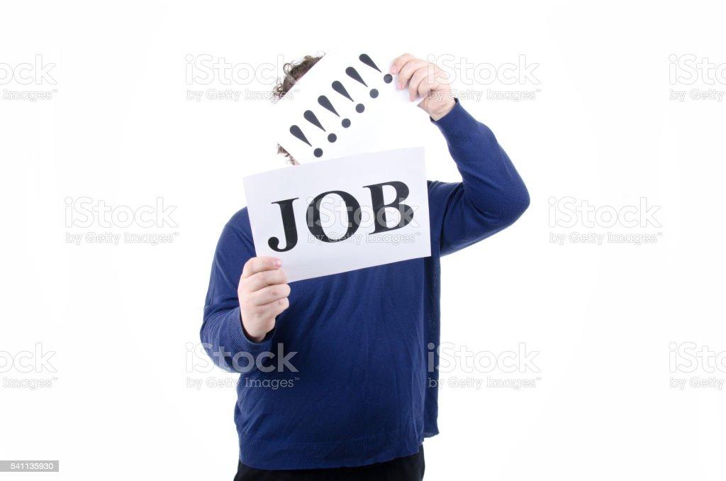 Job search. Crisis. stock photo