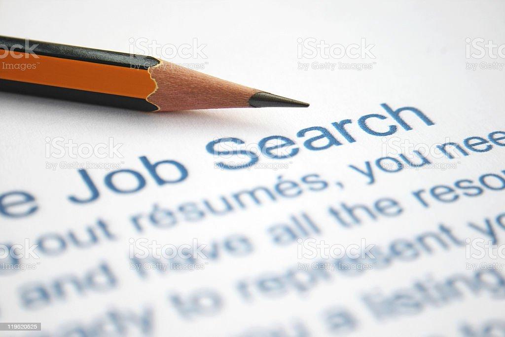Job search royalty-free stock photo