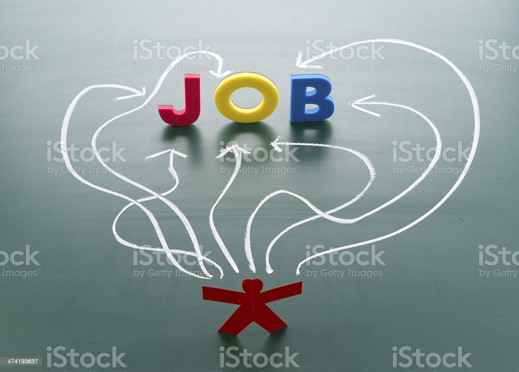 Job searching concept stock photo