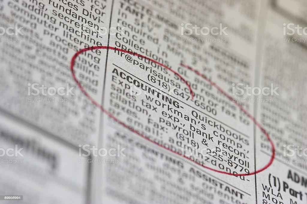Job Searching royalty-free stock photo