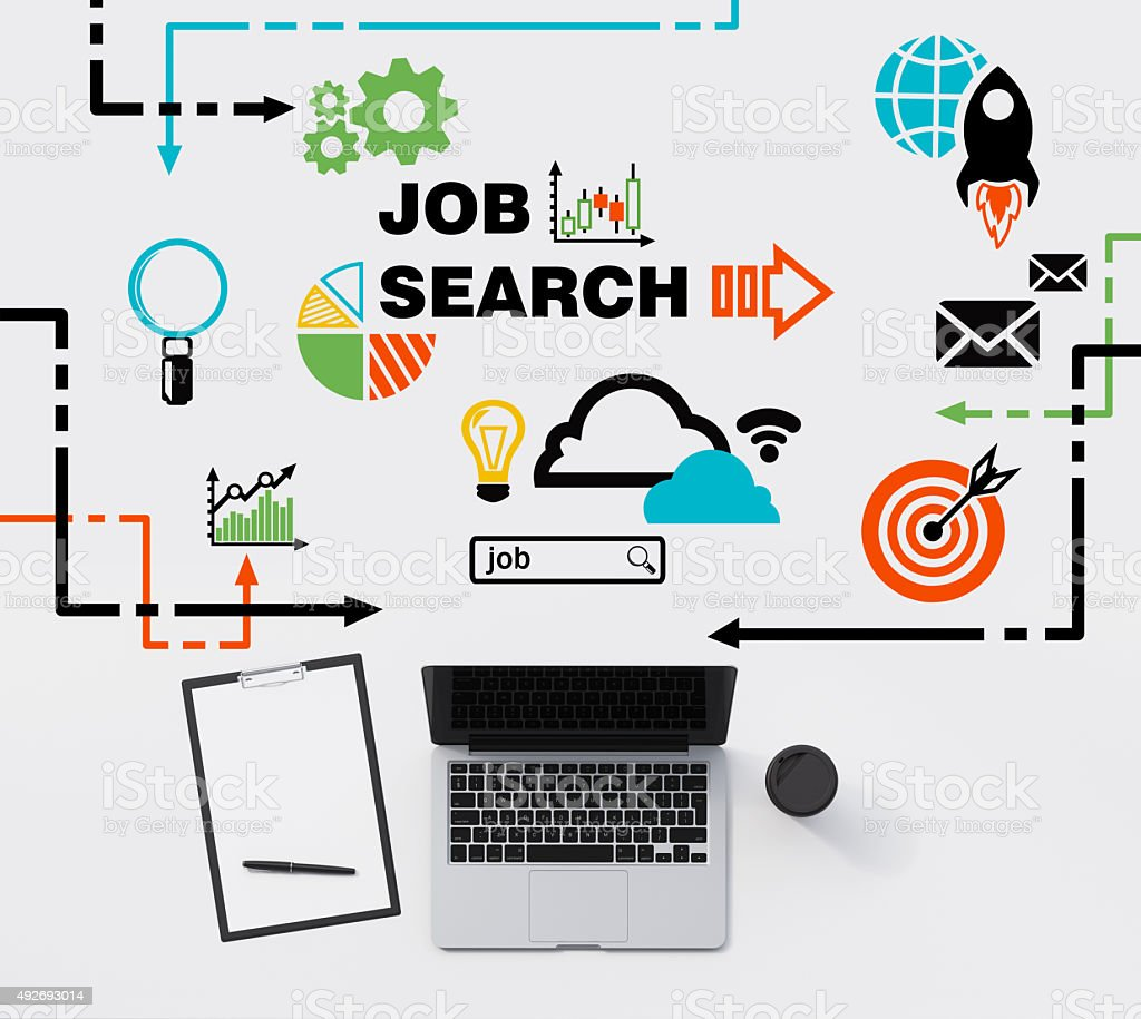 job searching process d rendering stock photo istock computer internet laptop technology 2015 job searching process