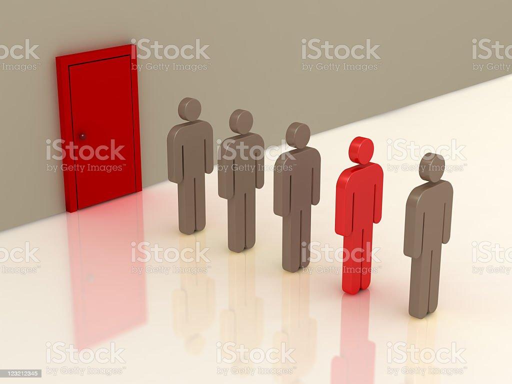 Job seeking people. royalty-free stock photo