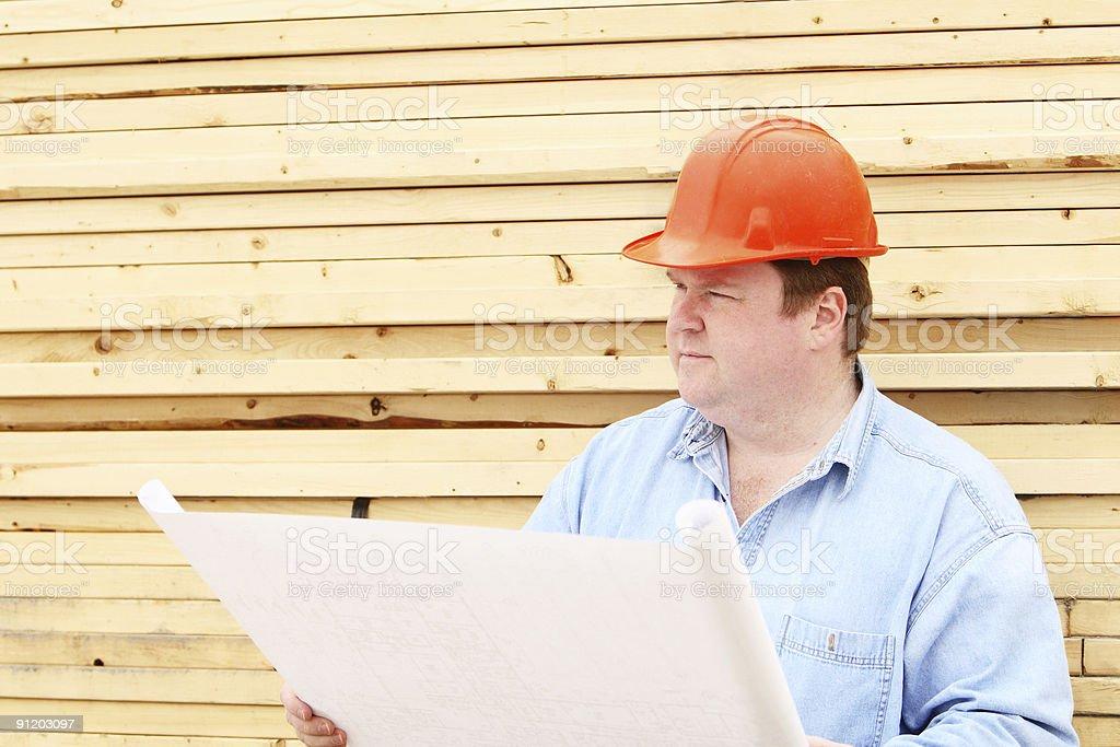 Job Site Foreman royalty-free stock photo