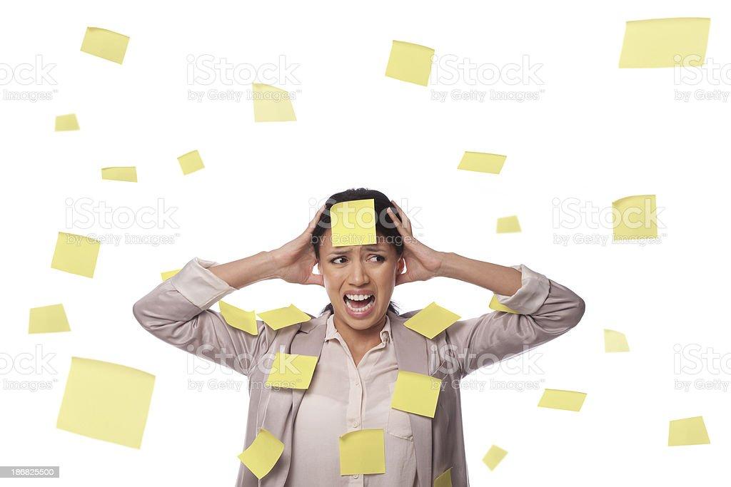 Job stress royalty-free stock photo
