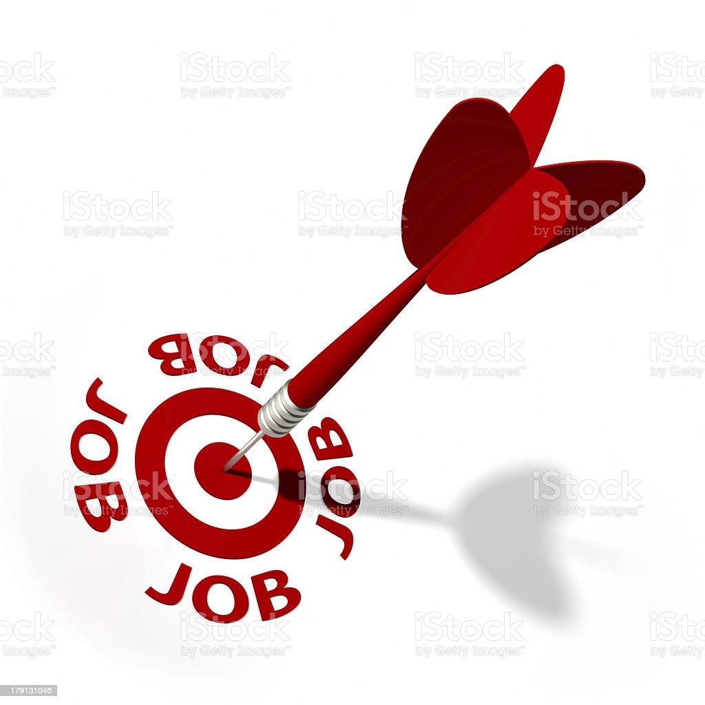 Job  Target royalty-free stock photo
