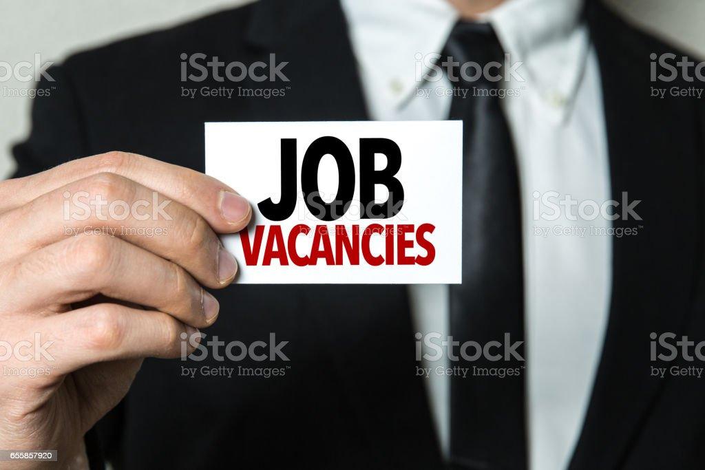 Job Vacancies stock photo