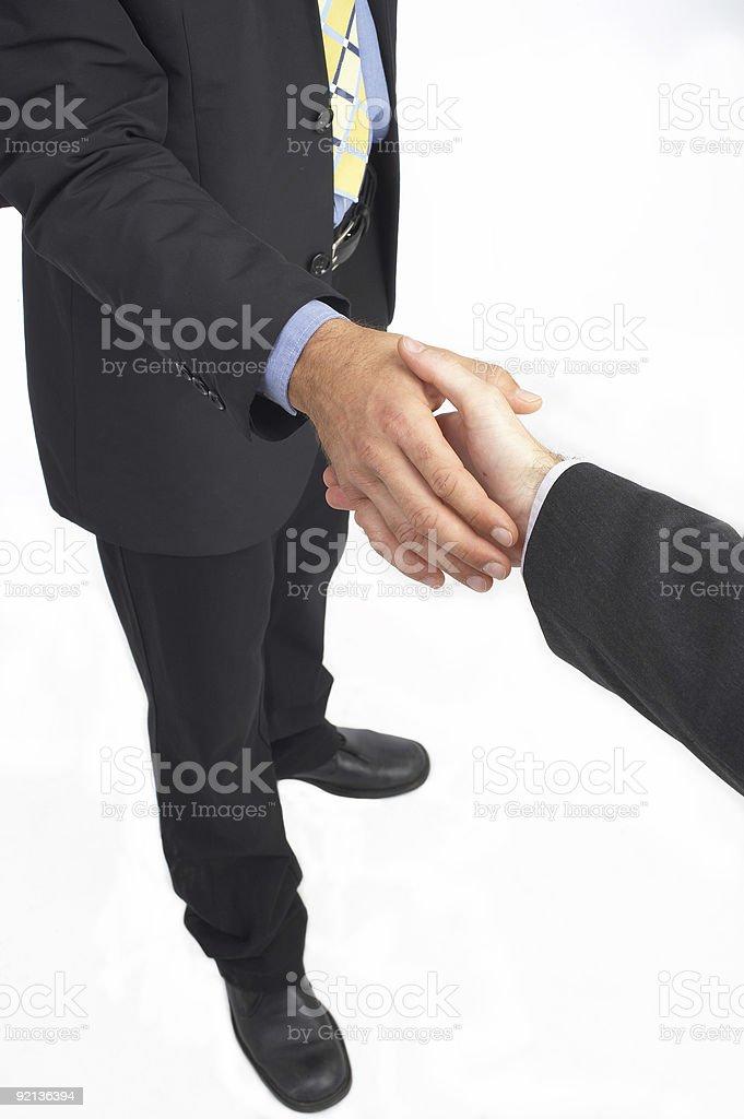 job winner hand-shake in business royalty-free stock photo