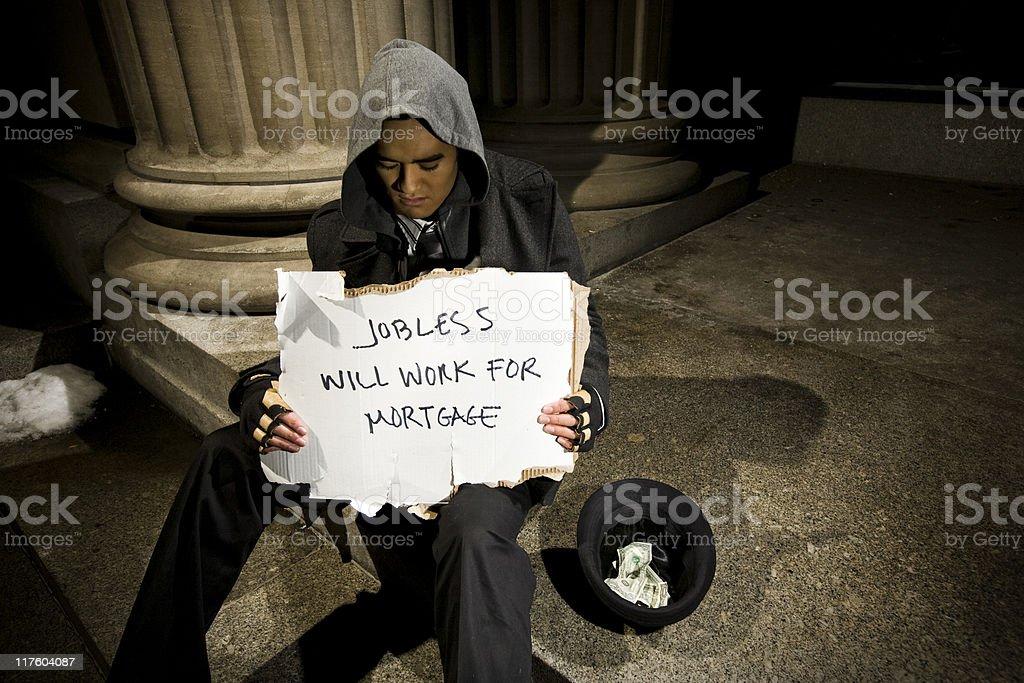 Jobless Businessman royalty-free stock photo