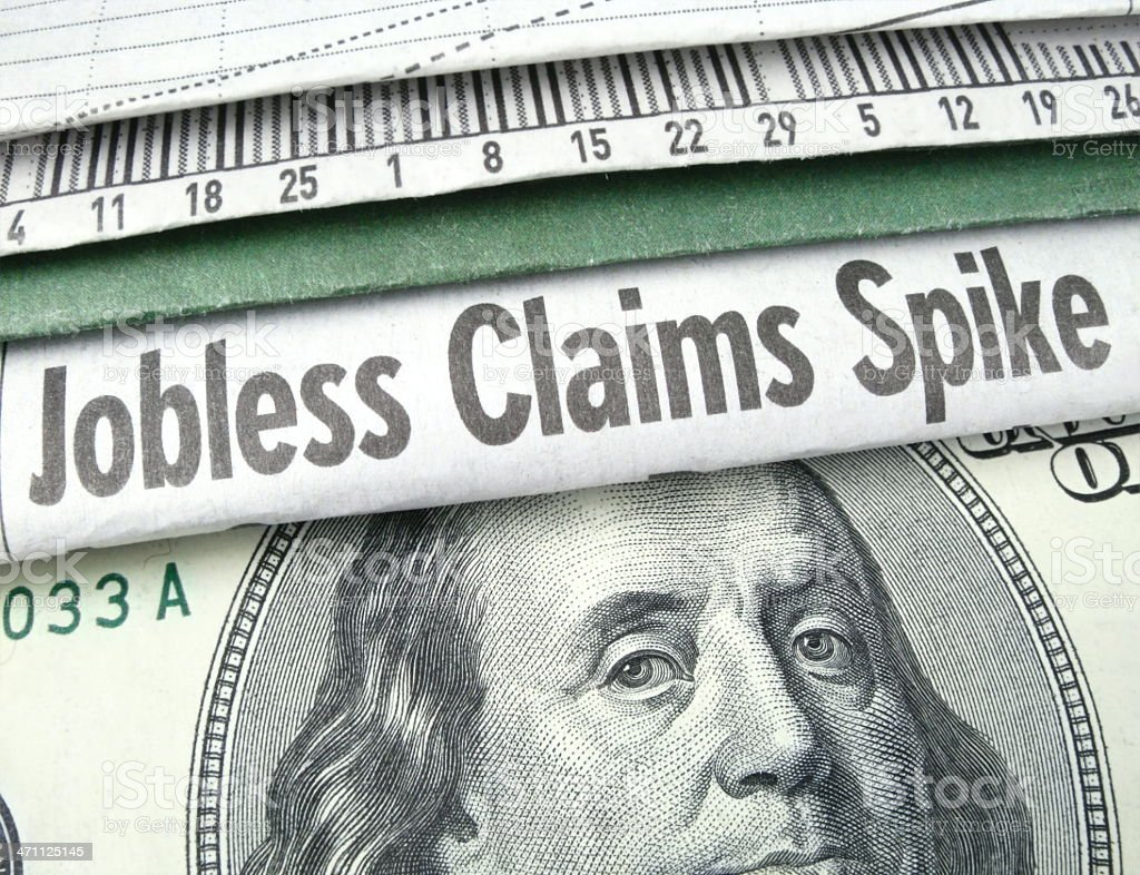 Jobless Claims Spike royalty-free stock photo