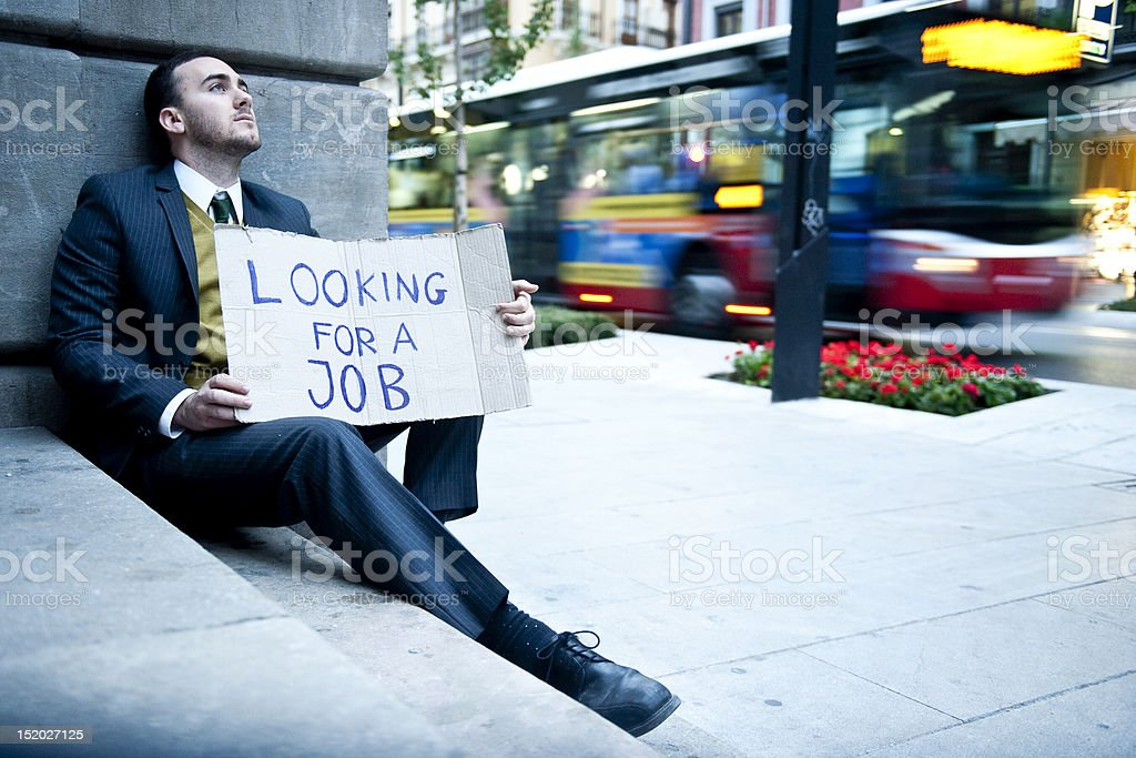 Jobless man stock photo
