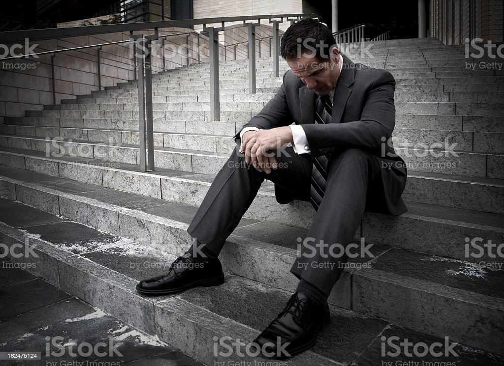 jobless man royalty-free stock photo