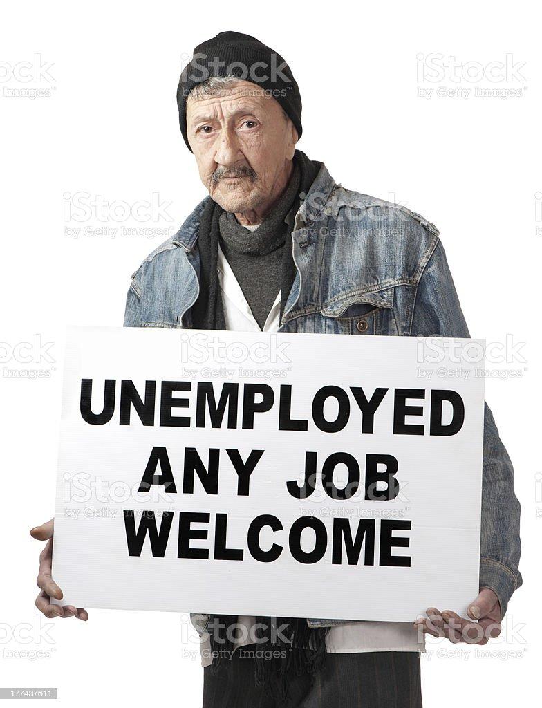 Jobless royalty-free stock photo