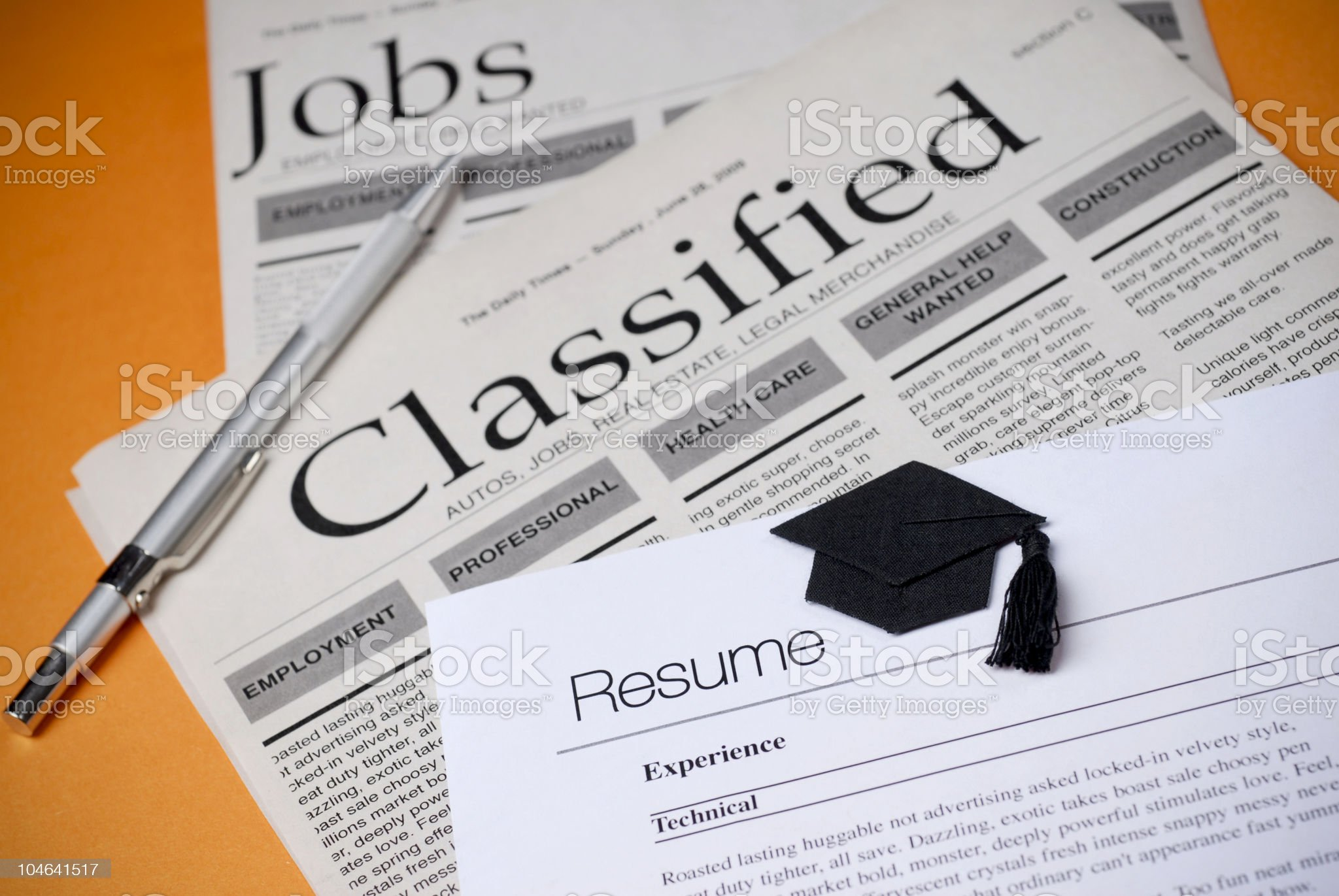 Jobs and Classified royalty-free stock photo