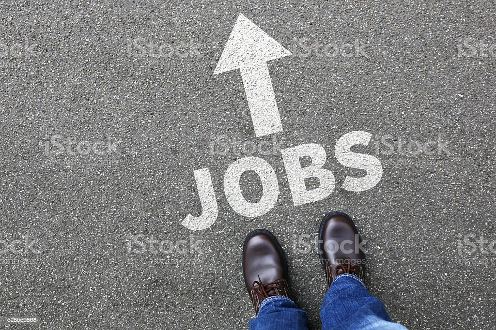 Jobs, job working recruitment employees businessman business man concept stock photo