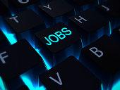 jobs keyboard blue light