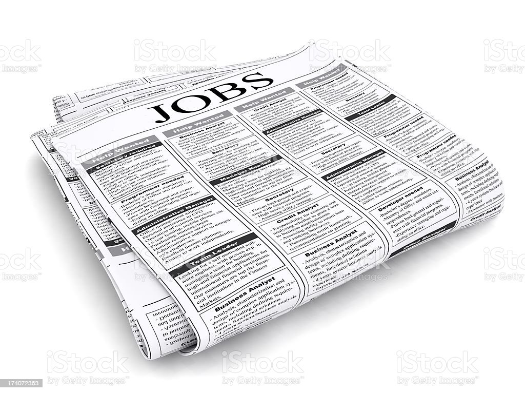 Jobs Listings royalty-free stock photo