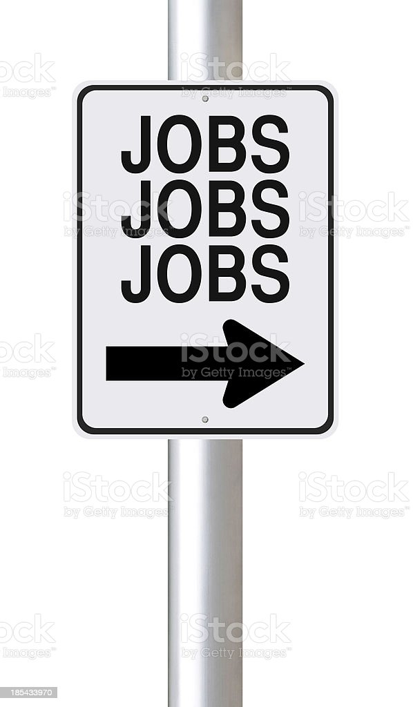 Jobs This Way royalty-free stock photo