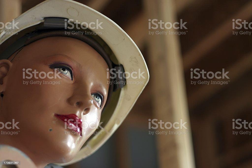 Jobsite Manequin Hardhat stock photo