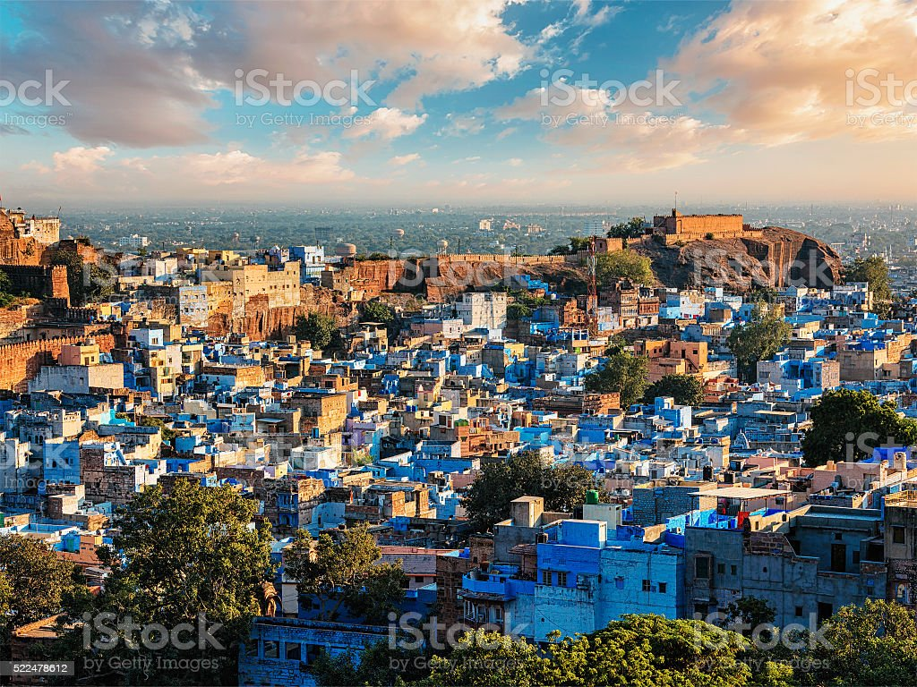 Jodhpur Blue City, India stock photo