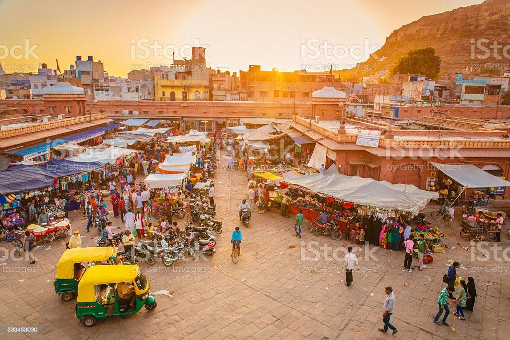 Jodhpur Market stock photo