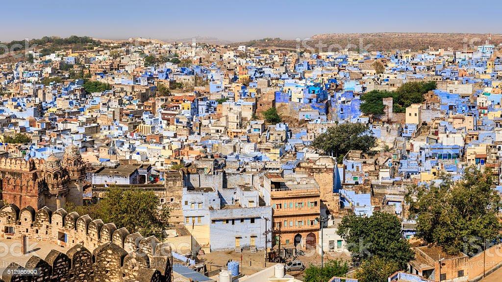 Jodhpur - panoramic view of The Blue City, Rajasthan, India stock photo