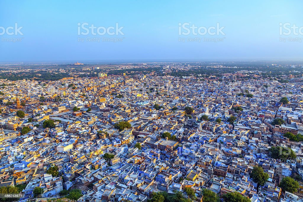 Jodhpur the blue city in Rajasthan state in India stock photo