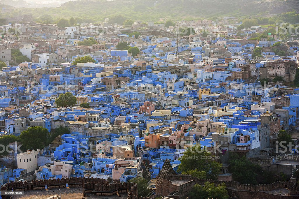 Jodhpur the blue city in Rajasthan state stock photo