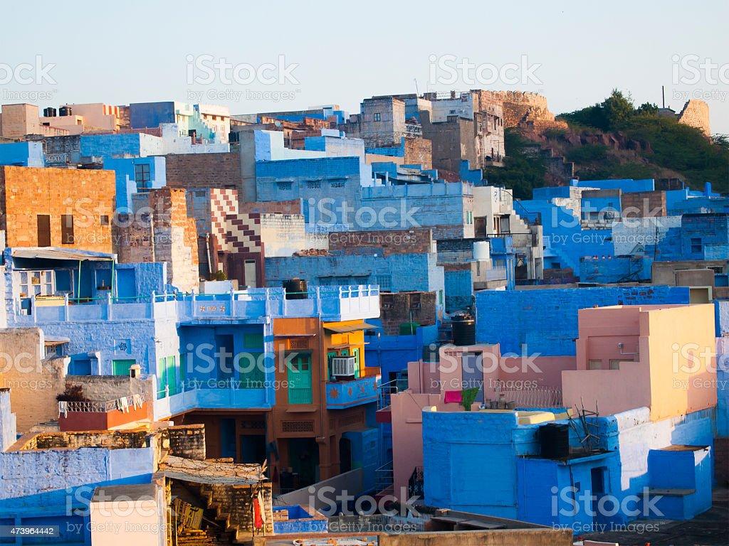 Jodhpur the blue city, Jodhpur, Rajasthan State, India stock photo